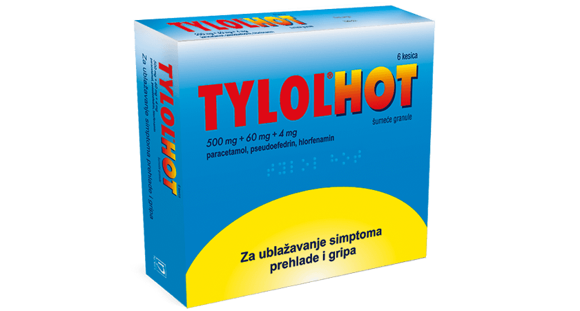 Tylol Hot 500mg+60mg+4mg 6 Kesica